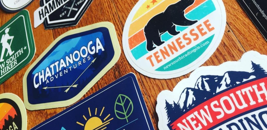 Chattanooga Themed Stickers - New South Trading Co