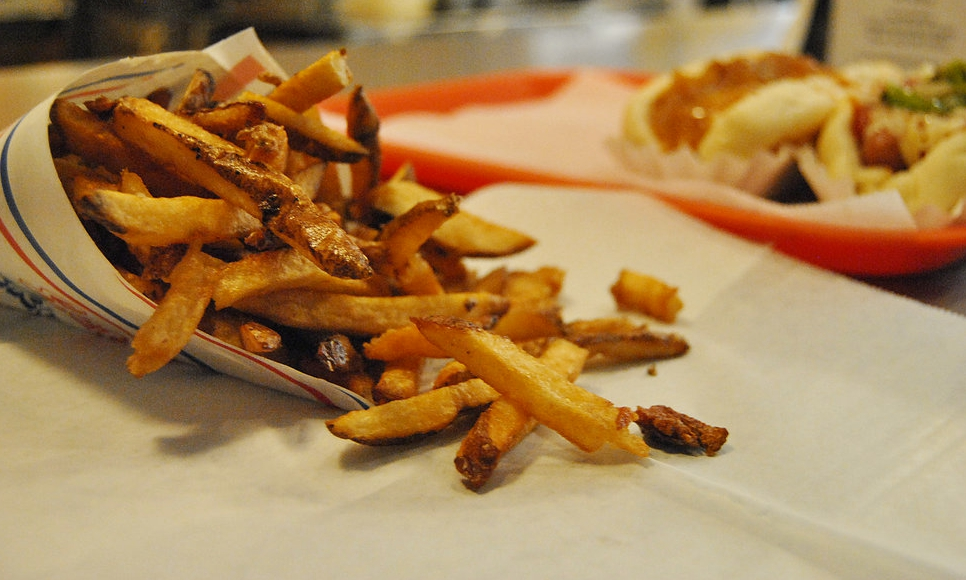 Gluten-free French fries at Good Dog, Chattanooga