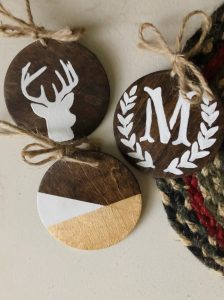 Handmade Wooden Christmas Ornaments by Ivory & Oak Chattanooga