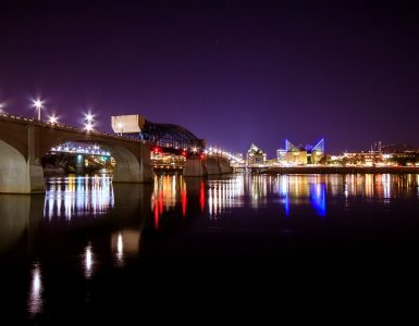 Chattanooga's Market Street Bridge at Night