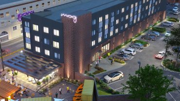 Moxy Hotel Chattanooga (aerial)